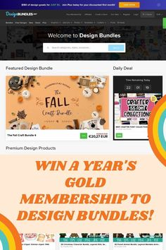 It's never been easier win a PREMIUM Gold Membership to Design Bundles! Each month they're giving away 3 spots and you have 17 chances of winning each spot (Even more if you tweet about it daily) - there are so many ways you can win so check out the post to enter