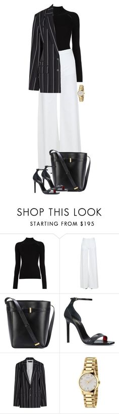 """Untitled #1091"" by julianne28 on Polyvore featuring Federica Tosi, Victoria Beckham, Yves Saint Laurent, Haider Ackermann and Gucci"