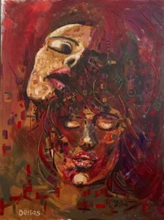 'Feelings' from Chris Delias from - size: x Chris D'elia, Modern Art, Contemporary, Saatchi Art, Art Drawings, Original Paintings, My Arts, Closed Eyes, Acrylic Canvas