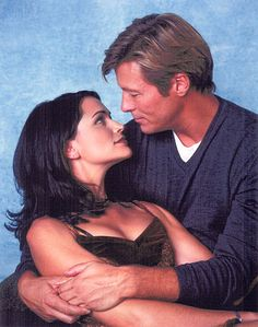 Rena Sofer & Jack Wagner (Melrose Place) Rena Sofer, Jack Wagner, Melrose Place, Celebs, Stars, Couple Photos, Couples, Classic, Night