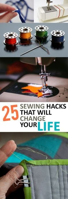 25 sewing hacks that will change your life - sewing tips and tricks that . - 25 sewing hacks that will change your life – sewing tips and tricks that … - Sewing Basics, Sewing Hacks, Sewing Tutorials, Sewing Crafts, Sewing Tips, Sewing Ideas, Diy Crafts, Sewing Lessons, Crafts Cheap