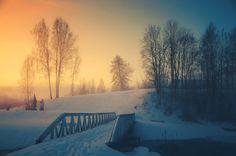 snowy bridge by dn1w3r