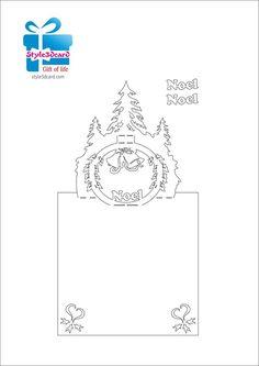 Christmas Tree Pop-Up Card/ kirigami pattern 1 Kirigami Patterns, Card Patterns, Pop Out Cards, 3d Cards, Chrismas Cards, Xmas Cards, Book Libros, Pop Up Card Templates, Christmas Crafts
