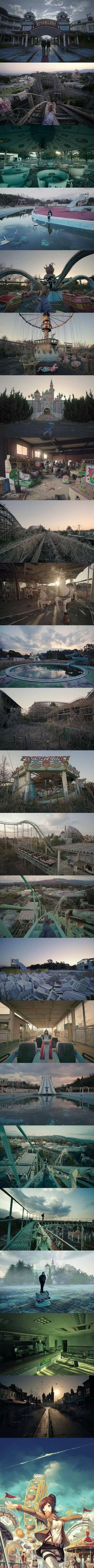 Welcome to DreamLand. An Abandoned theme park in Nara, Japan (By Victor Habchy)
