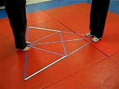This is the triangular footwork matrix for our training Aikido, Judo, Jiu Jitsu, Kung Fu, Martial Arts Workout, Martial Arts Training, Qi Gong, Martial Arts Techniques, Boxing Techniques