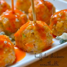 Super Bowl Party Appetizers: Buffalo Chicken Meatballs