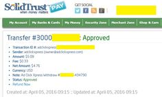 I am getting paid daily at ACX and here is proof of my latest withdrawal.  This is not a scam and I love making money online with Ad Click Xpress.  Join for FREE and get 10$ + 5$ Ad and Media value packs from ACX.  My #8 Withdrawal Proof of online income from Ad Click Xpress.
