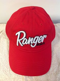 ff5209945ce Ranger Boats Fishing Cap. Red with Ranger White Stitch  fashion  clothing   shoes