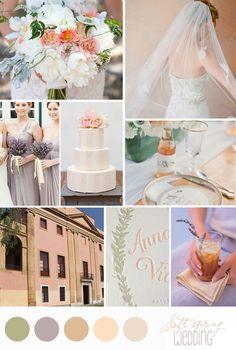 spring wedding palette lavender | Inspiration board: Soft spring wedding | Belle & ChicBelle & Chic