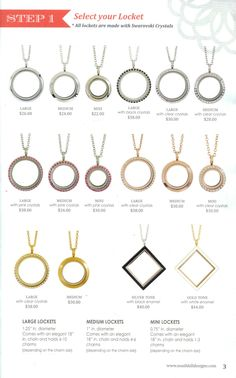 South Hill Designs Lockets. $22-44. Page 3 of Fall 2013 Catalog. www.sparklingcharms.com
