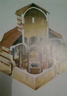 Reconstitution du baptistere de Marseille, fin du IVe