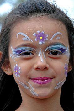 Fairy make up Disney Face Painting, Princess Face Painting, Girl Face Painting, Face Painting Designs, Painting For Kids, Paint Designs, Face Paintings, Skull Makeup, Makeup Art