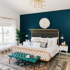 Use paint for a quick and cost-effective way of introducing blue blocking into your colour scheme to make a standout statement without…