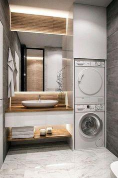 30 modern bathroom design ideas plus tips 62 – diy bathroom ideas Dyi Bathroom Remodel, Diy Bathroom, Laundry In Bathroom, Bathroom Renovations, Bathroom Storage, Bathroom Ideas, Bathroom Organization, Master Bathrooms, Bathroom Mirrors