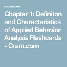 Errorless Teaching  Aba Applied Behavior Analysis  Aba