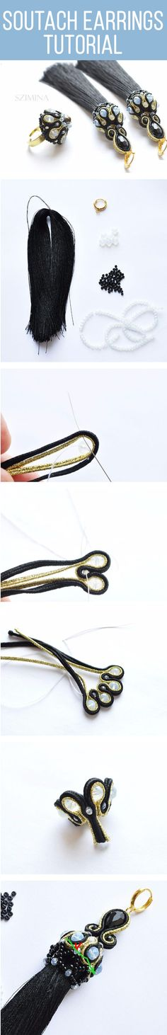 How to make Soutach earrings. Click on image to see step-by-step tutorial