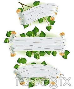 Leaves twigs and Bann vector graphic design
