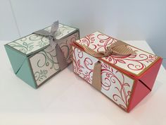 Chest Opening Gift Box - Video Tutorial Using Falling Flowers by Stampin...