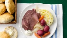 Slow-cooker Corned Beef and Cabbage With a mere 15-minute prep time, this Irish favorite couldn't be easier!