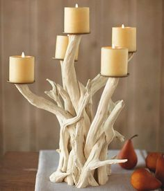 This driftwood candelabra ($19-$259) can be styled for any season. Pair it with sea blue candles and table linens in the Summer and transition to deep earth tone accents for the fall.