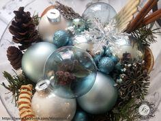 Weihnachten 2013 - Schale mit Schnee, Tanne und Kugeln so ähnlich bei www.otto.de gesehen.