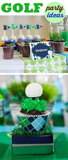 Golf Parties!  Good golf party ideas  @Josian Sprauve  I saw this and thought of Gerren :-)