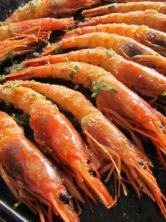 Seafood... prawns!