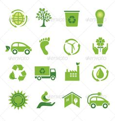 Buy Set of 16 Green Icons by on GraphicRiver. Set of 16 green, environmental icons. Ecology, go green, sustainable environment. PSD file is layered. Each icon is o. Sustainable Environment, Sustainability, Go Green Posters, Carta Logo, Solar Logo, Environmental Posters, Icon Design, Logo Design, Best Icons