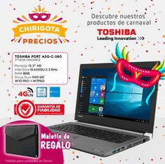 Descubre los productos de Carnaval con Toshiba