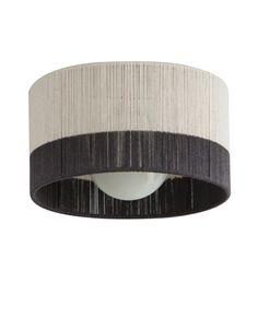 Horizon String Drum Ceiling Fixture  Transitional, MidCentury  Modern, Glass, Metal, Flushmount by Bone Simple Design