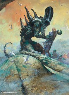 Authur Suydam, The Vault of Retro Sci-Fi Alien Vs Predator, Predator Alien, Arte Alien, Alien Art, Xenomorph, King Kong, Science Fiction, Giger Alien, Hr Giger