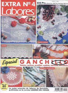 Labores especial Ganchillo - gosto de Artesanato - Album Web Picasa Crochet Books, Thread Crochet, Crochet Doilies, Crochet Lace, Filet Crochet, Crochet Chart, Crochet Patterns, Crochet Instructions, Crochet Magazine