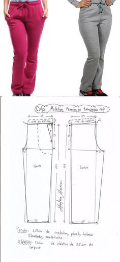 The hands (Creativity, Sewing, Patterns) Sports trousers Dress Sewing Patterns, Sewing Patterns Free, Sewing Tutorials, Clothing Patterns, Sewing Pants, Sewing Clothes, Diy Clothes, Sports Trousers, Pants Pattern