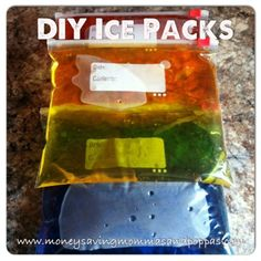 DIY Ice Packs!! So Easy!