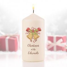 Personalised Traditional Bells Candle