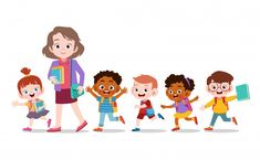 Find Happy Teacher School Kid Vector Illustration stock images in HD and millions of other royalty-free stock photos, illustrations and vectors in the Shutterstock collection. Kids Cartoon Characters, Cartoon Kids, Happy Teachers Day, Happy Kids, Teacher Images, Teacher Cartoon, Kids Background, Kids Vector, Art Drawings For Kids