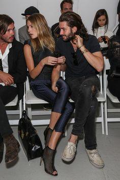 Dree Hemingway and Phil Winser - New York Fashion Week SS2014.  (2013)