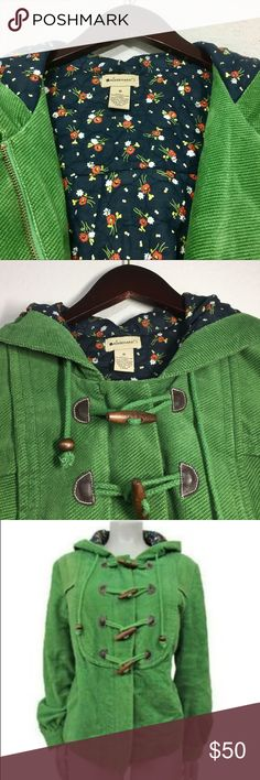 Anthropologie Elevenses Hooded Coat ✔️100% Cotton ✔️Wooden Toggle Closures ✔️Quilted Floral Lining ✔️No Holes, Stains or Damages Anthropologie Jackets & Coats