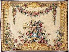 Pansu Tapestries - Vendome Floral Wall Tapestry