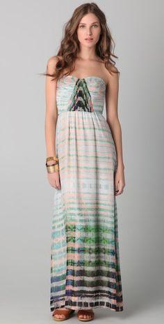 Such a rad dress! Twelfth St. by Cynthia Vincent    Shirred Corset Maxi Dress