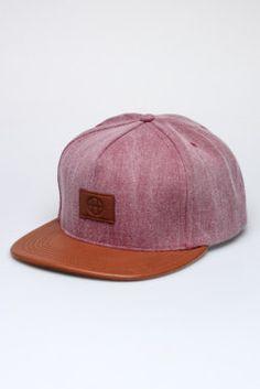 Leather Circle H Snapback Hat