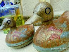Pareja de patos de bronce 13 Genoves Atelier
