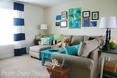decorating ideas on a budget for living room | Media Room Ideas on a Budget {Paper Daisy Designs}
