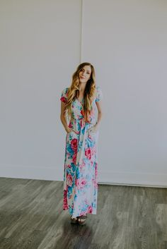 The Ailani Floral Maxi in White