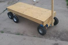 6 Wheel Garden Wagon : 5 Steps (with Pictures) - Instructables Wooden Cart, Wooden Diy, Diy Wood, Wood Crafts, Yard Cart, Wheel Dollies, Metal Cart, Wooden Projects, Outdoor Projects