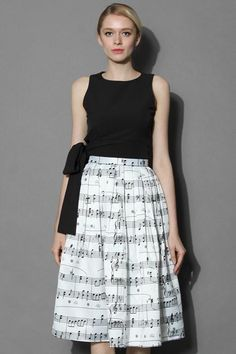 190cd24fdd58 White Melody Casual Skirt. Chicwish ...