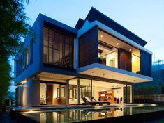 Modern Two-Storey House Sentosa Cove by ONG Architects