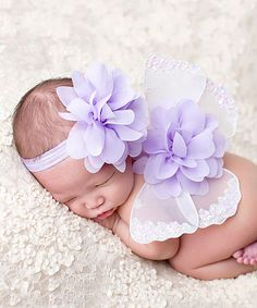 Another great find on Alli Balli Boutique White & Lavender Floral Fairy Wings & Headband by Alli Balli Boutique Baby Girl Princess, Princess Outfits, Fairy Wings, Photo Props, Headbands, Whimsical, Lavender, Newborn Babies, Invitations