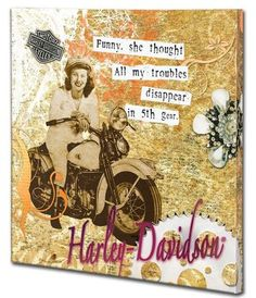 HARLEY-DAVIDSON® 5TH GEAR CANVAS PRINT HDL-15704 NEW at Shoreline Harley-Davidson  www.shorelinehd.com