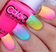 Colores neón... En una esponja...